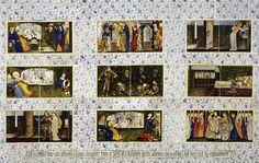 """Mais uma arte em azulejo desenvolvida pelo Morris. Essa arte foi inspirada pelo conto de fadas """" A Bela Adormecida""""    Postado por Elaine"""