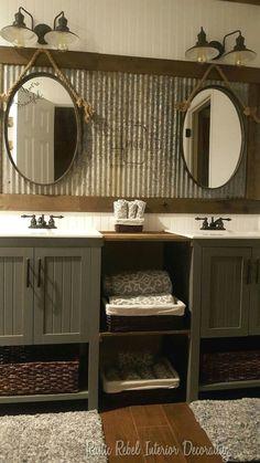 Rustic Bathroom Decoration #smallbathrooms