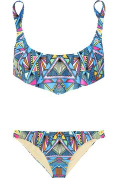 MARA HOFFMAN Inca printed bikini. #swimsuit #twopiece