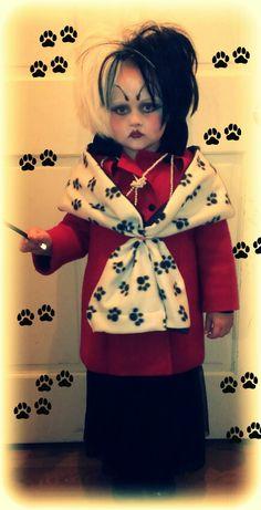 Unique Cruella Deville Costume for Little Girl