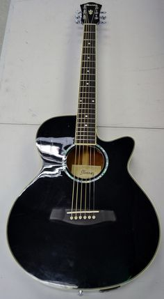 Ibanez AEG10E-BK 6-String Acoustic Electric Guitar