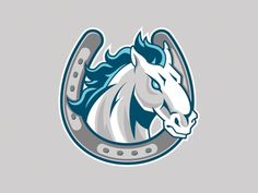Horse Horseshoe Mascot designed by Michael Powers. Connect with them on Dribbble; Unicorn Logo, Baby Unicorn, Custom Logo Design, Graphic Design, Pegasus Logo, Baltimore Colts, Horse Logo, Rough Riders, Mascot Design
