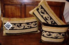 antique French tapestry pillows from E Alexander Designs Cushions, Pillows, French Antiques, Household, Give It To Me, Reusable Tote Bags, Tapestry, Projects, Vintage
