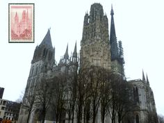 The Cathédrale de Rouen was the subject of numerous paintings by Monet.  http://www.waymarking.com/waymarks/WMHA83_Cathdrale_de_Rouen_Rouen_Normandy_France