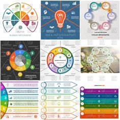 Infographics business #conceptual cyclic #processes, 112921, #Infographics & #Data,  Download, Royalty free, #Vector, eps, #clipart, jpg, images, clip art, #graphics