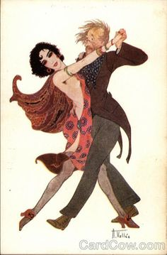 Dancing French Couple by A. Vallée