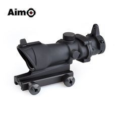 99.27$  Watch now - http://ali57v.worldwells.pw/go.php?t=32761925850 - Aim-O Red Dot Iron Sight ACOG 4x32 Optical Rifle Scope Red / Green Reticle With Mount 1 set AO5310