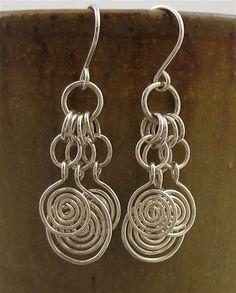 Handmade Sterling Silver Wire Earrings by lonerockjewelry on Etsy, $26.00