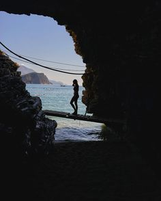 Chasing the perfect moment #crnagora This was taken from beautiful cape Mogren near Old Town Budva in Montenegro.  #summer #summer2016 #budva #mogrenbeach #sea #montenegro #beach #diving #igersmontenegro #summertime #enjoy #life #travel #travelphotography #mogren #crnagora #cave #nature #riviera #island #sea #svetinikola #silhouette