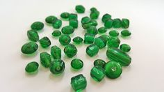 Multiishaped Dark Green Glass Beads  by FunkyCreativeJuices