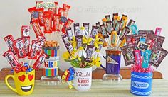 How to make a Candy Bouquet. A fast, $5 gift idea! CraftsnCoffee.com.