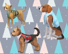 The Sims 4 Advent Calendar Day 2 by silverhammersims Sims 4 Mods, Sims Pets, Sims 4 Traits, The Sims 4 Packs, Avatar, Happy December, Dog Vest, Dog Pin, Sims 4 Cc Finds