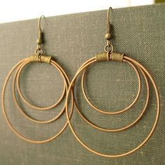 guitar string earrings 2
