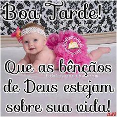 Boa Tarde! Que as bênçãos de Deus estejan sobre sua vida!