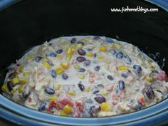 Crock Pot Cream Cheese Chicken Chili #recipe #slow #cooker