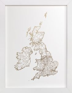 British Isles Foil Map by GeekInk Design at minted.com