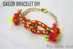 DIY // Sailor bracelet ----> In spanish, but has pictures to help guide you through the steps.