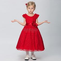 Robe rouge fille pas cher