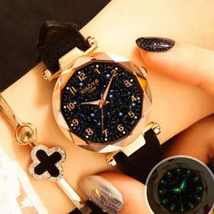 Luxury Starry Sky Watch For Women Fashion Ladies Quartz Wristwatch Red Leather W. Luxury Starry Sky Watch For Women Fashion Ladies Quartz Wristwatch Red Leather Waterproof Clock relogio feminino zeg Datejust Rolex, New Casual Fashion, Luxury Fashion, Sky Watch, Gold Watch, Gold Bracelet For Women, Cheap Watches, Stylish Watches, Unique Watches