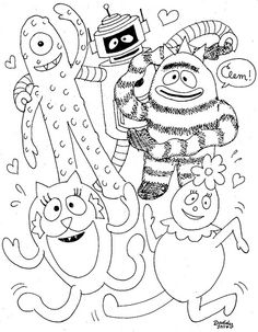 Yo Gabba Coloring Pages 2
