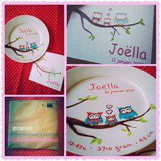 Geboortebordje #DIY #creatief #creative #porcelainpainting #porseleinverf #madebyme #creativitess #geboortebordje #kraamcadeau