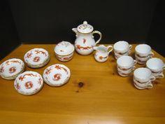 Antique Meissen Red Dragon China Tea Set