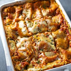 You'd never guess by looking at this cheesy dish, but each slice clocks in at just 250 calories.  Get the recipe from Pinch of Yum.   - Delish.com