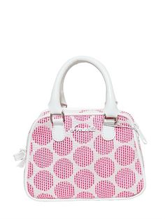SIMONETTA - POLKA DOT COTTON TOP HANDLE BAG - LUISAVIAROMA