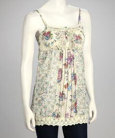 Take a look at this Cream Silk-Blend Tank by Pura Vida on #zulily today!
