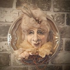 Ghost - Art Doll - Fantasy Doll - Porcelain Doll - Wall Hanging - Portrait - Baroque - Witch - Whimsical - Halloween Decor - Bust Of A Witch by Rustiikkitupa on Etsy