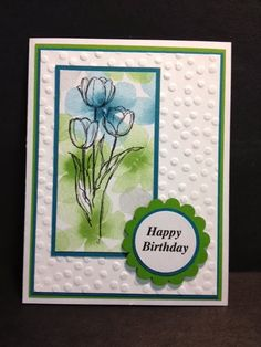 Wanda Pettijohn: My Creative Corner!: A Blessed Easter Birthday Card - 2/25/14 (watercolor dsp)