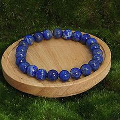 Lapis Lazuli Spiritual Stretch Bracelet Energy Healing Bracelet by ElunaJewelry Handmade by Eluna Jewelry Designs Semi Precious Gemstones, Natural Gemstones, Lapis Lazuli Healing, Lapis Lazuli Bracelet, Healing Bracelets, Gemstone Colors, Gemstone Jewelry, Crystal Jewelry, Gifts