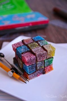 Rubix Cube Jubes, Make Your Own Jubes @ Not Quite Nigella
