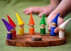 WEEK DAY Calendar Rainbow Gnome Waldorf van HinterlandMama op Etsy