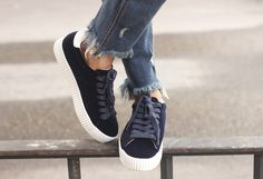 Blue Velvet Sneakers | BeSugarandSpice - Fashion Blog