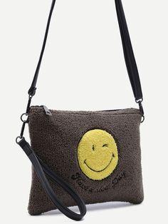 bag161020915_2 Crossbody Bag, Tote Bag, Smile Face, Fashion Ideas, Zip, Shoulder, Grey, Bags, Handbags