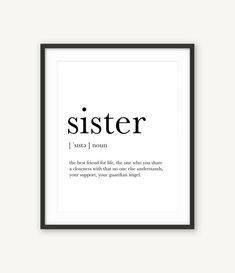 Little Sister Gifts, Gifts For Your Sister, Birthday Gifts For Sister, Sister Love, Sister Birthday Quotes, Best Sister, Sister Definition, Sister Christmas Presents, Movie Posters