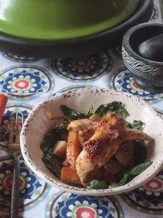 Chicken with Tomato and Pepper Paste Cooked in a Tagine