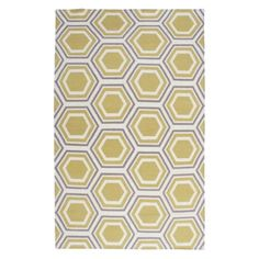 Odeon Rug - Grey/Citrus from Z Gallerie, great way to add pizazz under kitchen table with a flat weave rug