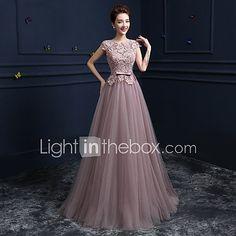 Vestido de baile com esfera de gola, comprimento do chão, vestido de baile de cetim e cetim com beading de 2017 por $109.99