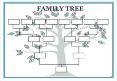 Example Of Family Tree Chart Inspirational Blank Family Tree Template Printable Create A Family Tree, Family Tree For Kids, Family Tree Maker, Trees For Kids, Family Trees, Blank Family Tree Template, Family Tree Worksheet, Family Tree Templates, Family Tree Diagram