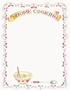 Here you find the best free Recipe Border Clipart collection. You can use these free Recipe Border Clipart for your websites, documents or presentations. Printable Recipe Page, Homemade Recipe Books, Envelopes, Recipe Sheets, Illustration Noel, Recipe Binders, Note Paper, Writing Paper, Cookbook Recipes
