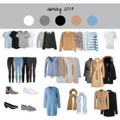 Spring Capsule Wardrobe 2018 by tanja-rode on Polyvore featuring polyvore, мода, style, Victoria Beckham, Acne Studios, Uniqlo, R13, Noted*, River Island and Ermanno Scervino
