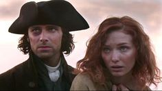 Fresh faces: Aidan Turner as the brooding Captain Ross Poldark with Eleanor Tomlinson as D...