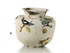 Vintage, precioso jarrón de cerámica de aspecto envejecido con diseño de pájaros.  Cerámica San Marco.  http://www.aqdecoracion.es/jarron-de-ceramica-san-marco-vintage_723.html  #jarronesdeceramica #jarronesdeporcelana #ceramicadecorativa #decoracion #decoracionydiseño #decoraciondelhogar #decoraciondeinteriores #decor #homedecor #homedesign