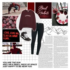 """""""✮✮//Should have never let you go, knowing that you left messes with my head. Shadows of you haunt me now. So I'll never get over not getting under you."""" by xo-nataliiee-xo ❤ liked on Polyvore featuring Marvel, Nicole and Vans"""