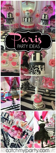 Loving this gorgeous Paris and roses birthday party! See more party ideas at CatchMyParty.com!