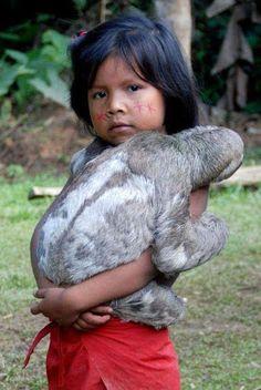 33 New Ideas For Baby Animals Sloth Life Brazilian Rainforest, Amazon Rainforest, Animals For Kids, Baby Animals, Cute Animals, Precious Children, Beautiful Children, Amazonian Warrior, Xingu