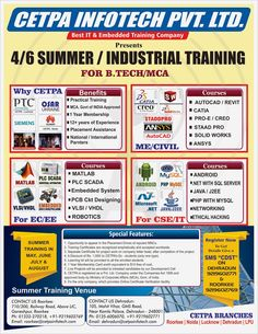If you want to master the fundamental skills in any of the high-end technologies, then enroll for the Six Months project based training from CETPA and gain the competitive edge.