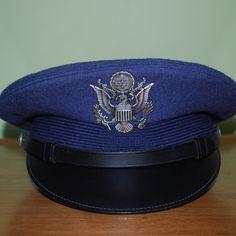 US Air Force 1968 Vietnam Era Dress Blue Wool Cap